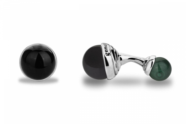 BALLS IN ONYX AND MALACHITE