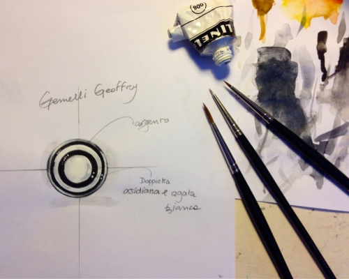 Sketch of 'Geoffrey' cufflinks