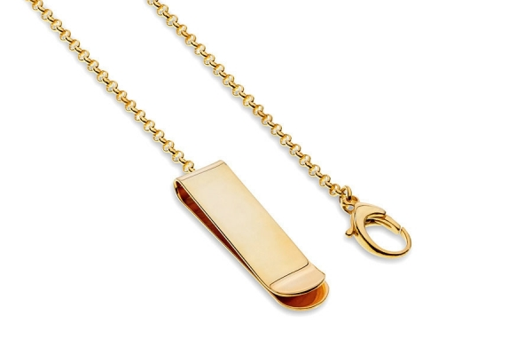 MONEY CLIP WITH CHAIN GOLD
