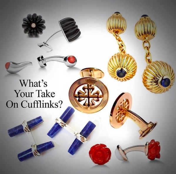 CUFFLINKS! - WHY, WHEN AND PERHAPS EVEN MORE IMPORTANTLY, WHEN NOT. By George Cramer