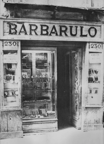 Barbarulo's shop in 1920